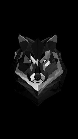 Обои на телефон волк, арт, wolf art, cvs
