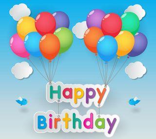Обои на телефон шары, день рождения, цветные, счастливые, векторные, абстрактные, happy
