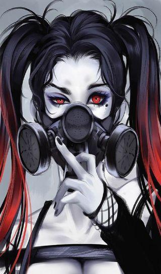 Обои на телефон маска, девушки, gasmask, alternative