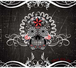 Обои на телефон чернила, череп, темные, сахар, девушки, tras her ink, sugar skull, darkdroid