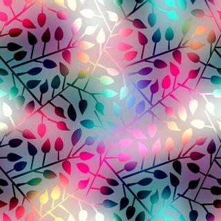 Обои на телефон сияющие, листья, шаблон, фон, красочные