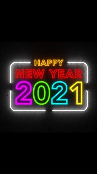 Обои на телефон числа, цветные, счастливые, новый, неоновые, год, высказывания, year 2021, happy new yeat, 2021