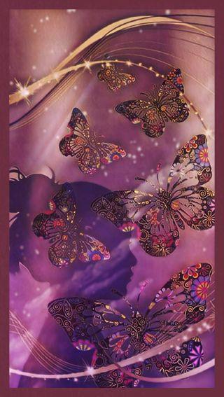 Обои на телефон элегантные, черные, розы, розовые, бабочки, elegant butterfly