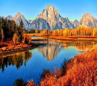 Обои на телефон озеро, прекрасные, пейзаж, горы, lake mountains