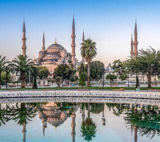 Обои на телефон мусульманские, турецкие, приятные, прекрасные, мечеть, ислам, день, вода, uhd, 4k
