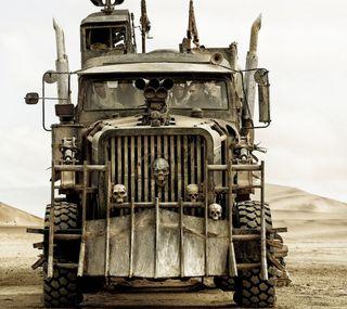 Обои на телефон грузовик, череп, фильмы, макс, безумные, mad max