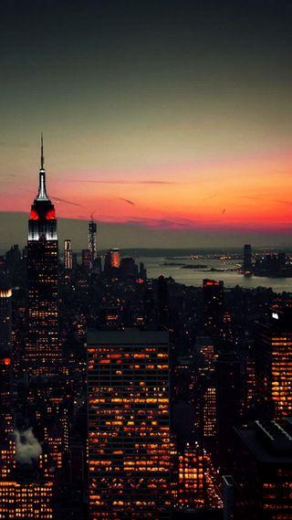 Обои на телефон нью йорк, свет, новый, империя, город