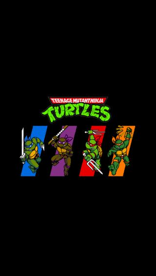 Обои на телефон черепашки ниндзя, черепахи, время, аркада, turtles in time