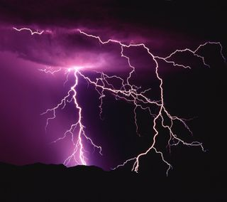 Обои на телефон элемент, молния, фиолетовые, ночь, небо, гром, noisy