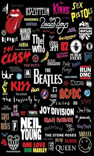 Обои на телефон поцелуй, рок, нирвана, металл, логотипы, королева, группы, singers, oasis, acdc