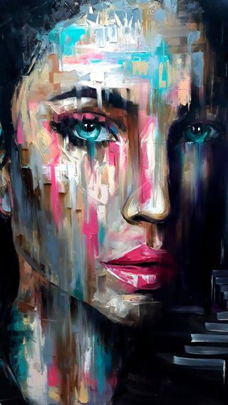 Обои на телефон рисунки, лицо, девушки, грустные, арт, art