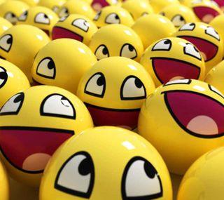 Обои на телефон смайлы, счастливые, смайлики, лицо, желтые, smily face, happy