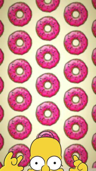 Обои на телефон гомер, rosquillas, donuts