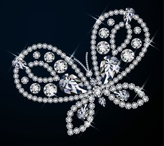 Обои на телефон бриллиант, светящиеся, бабочки, jewelry