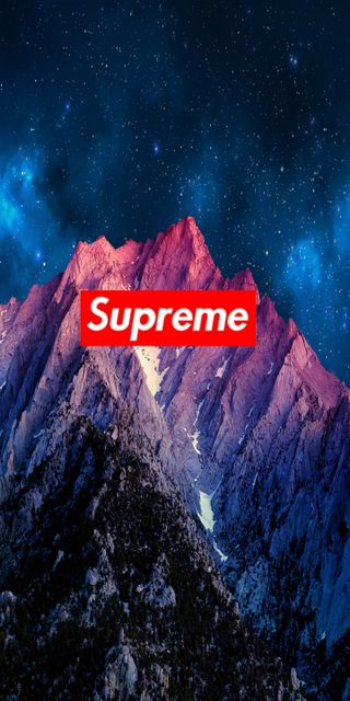 Обои на телефон горы, звезды, surpreme, supreme, stary supreme