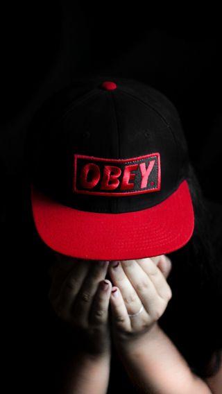 Обои на телефон черно белые, шляпа, девушки, swag, snapback, obey, blacknwhite
