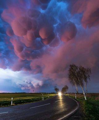 Обои на телефон погода, шторм, облака, небо, красочные, дорога, дождь, германия, hd, germany skies