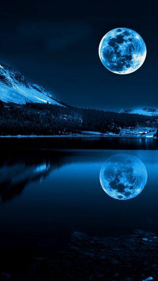Обои на телефон зима, темные, синие, рождество, ночь