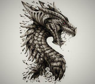 Обои на телефон череп, зубы, дракон, голова, scales, dragon