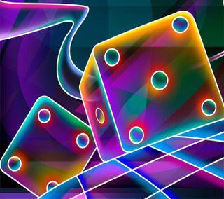 Обои на телефон куб, приятные, неоновые, игральные кости, взгляд, 3д, 3d cube dice neon