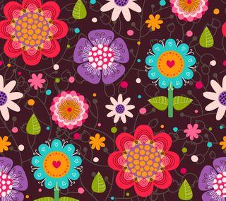 Обои на телефон шаблон, цветы, цветочные, круги, красочные, декор, арт, абстрактные, art