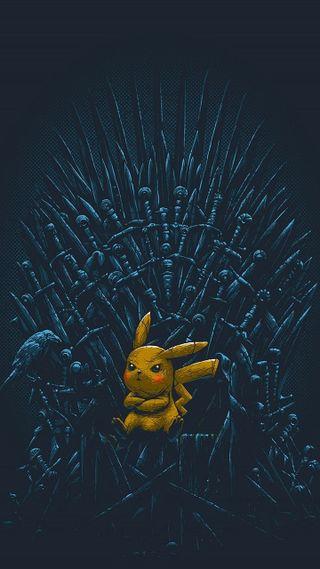 Обои на телефон престолы, покемоны, пикачу, игра, забавные, pikachu thrones