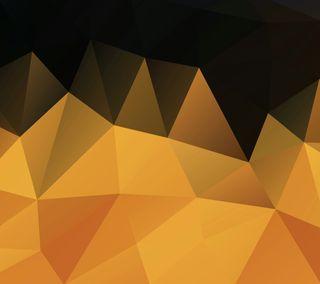 Обои на телефон многоугольник, черные, оранжевые, polygon 11