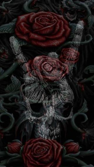 Обои на телефон дьявол, череп, темные, ангел