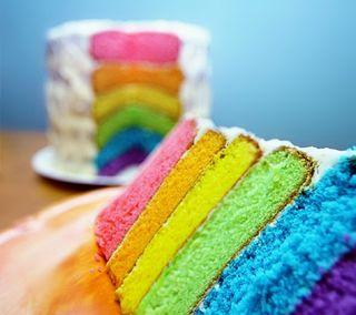 Обои на телефон цветные, торт, радуга, другие