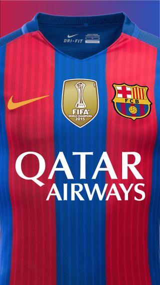 Обои на телефон футбольные, фифа, футбол, месси, барселона, qatarairways, msn, barcelona shirt, 17