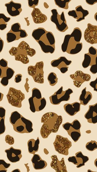 Обои на телефон леопард, блестящие