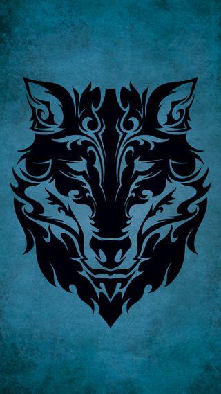 Обои на телефон черные, животные, волк, тату, племенные