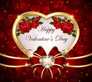 Обои на телефон бриллиант, счастливые, сердце, романтика, розы, любовь, день, валентинка, love, happy