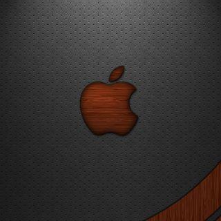 Обои на телефон эпл, текстуры, логотипы, кожа, дерево, mac, leather and wood, ios, apple