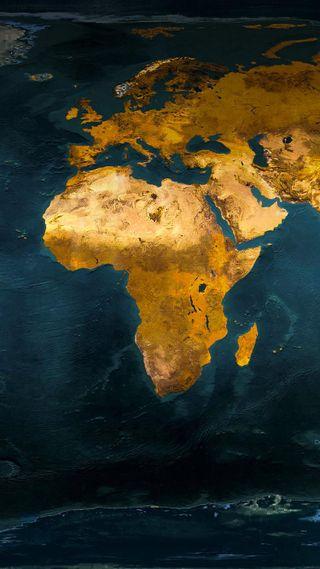 Обои на телефон океан, мир, карта, африка
