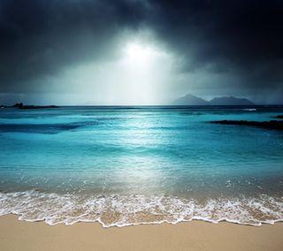 Обои на телефон пляж, море, закат