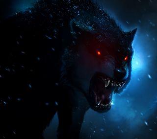 Обои на телефон тьма, охотник, зло, ночь, волк, арт, art
