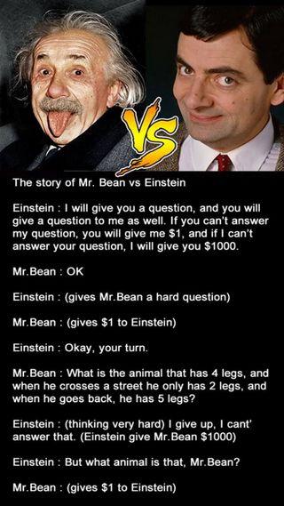 Обои на телефон эйнштейн, против, история, шутка, мистер, mr bean vs einstein, mr bean