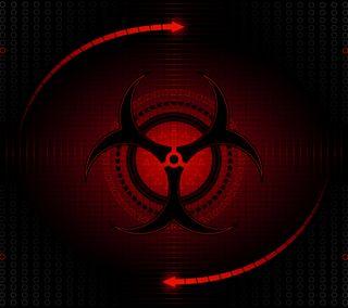 Обои на телефон радиоактивный, дизайн, логотипы, красые, биологическая опасность, biohazard