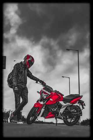 Обои на телефон шлем, оттенок, гром, байкер, байк, rtr, biker shade, apache rtr 1604v, apache