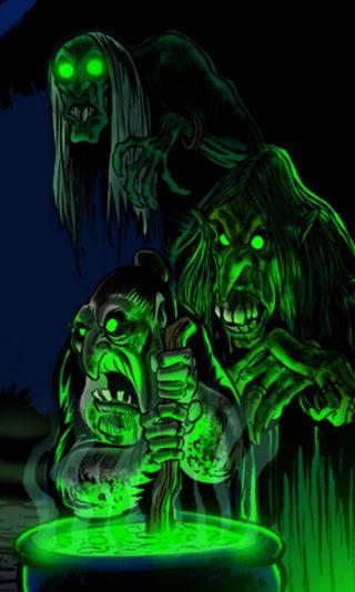 Обои на телефон хэллоуин, темные, призрак, ночь, ведьма, ghost