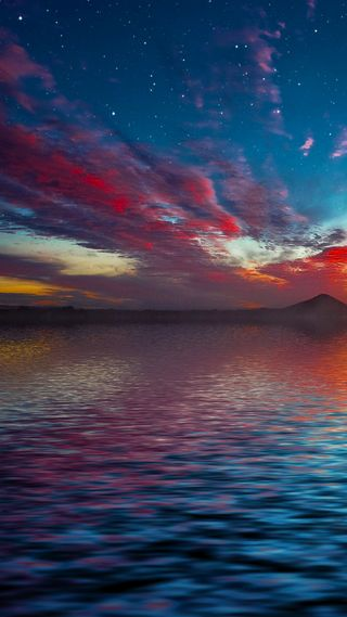 Обои на телефон небо, море, закат, sea and sky