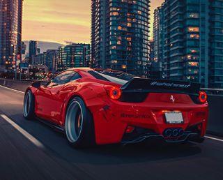Обои на телефон феррари, машины, красые, ferrari 458 red hd, ferrari