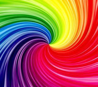 Обои на телефон спираль, цветные, радуга