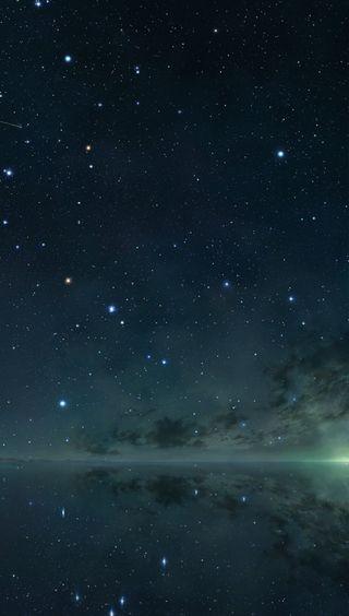 Обои на телефон бесконечность, природа, пейзаж, отражение, небо, звезды, infinity nature