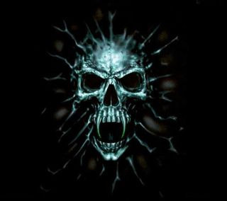 Обои на телефон эмо, готические, череп, новый, крутые, кости, зло, вампиры, noeon, evil skull