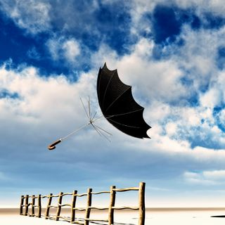 Обои на телефон полет, амбрелла, flying-umbrella