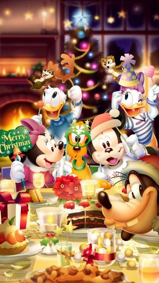 Обои на телефон маргаритка, рождество, минни, микки, дональд, дисней, гуфи, pluto, disney xmas, disney