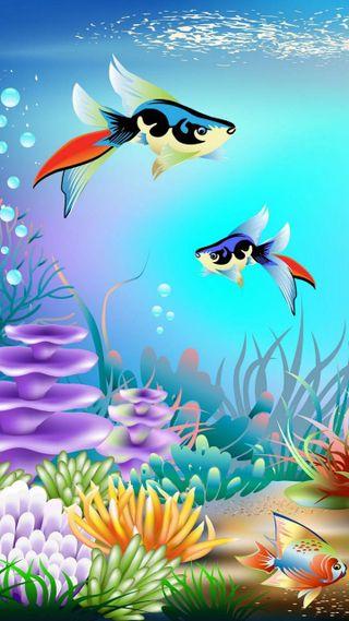 Обои на телефон рыба, под, океан, море, under the sea