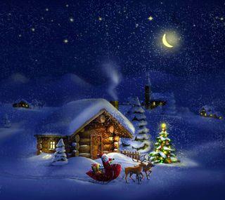 Обои на телефон счастливое, рождество, праздник, зима